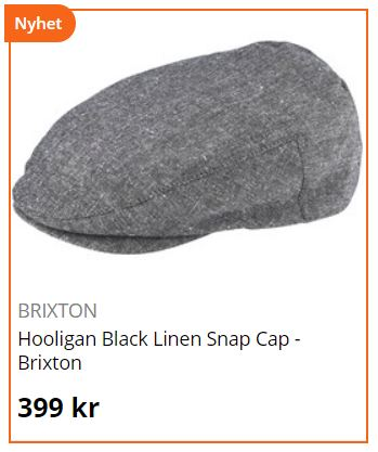 brixton flatcap holigan black